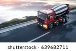 concrete mixer truck on highway.... | Shutterstock . vector #639682711