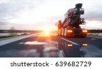 concrete mixer truck on highway.... | Shutterstock . vector #639682729