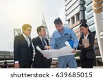 business people in action ... | Shutterstock . vector #639685015