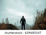 hiker standing backwards and...   Shutterstock . vector #639685147