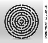 circular maze  | Shutterstock .eps vector #639685831