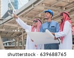 arabian business people working ... | Shutterstock . vector #639688765
