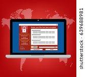 malware ransomware wannacry... | Shutterstock .eps vector #639688981