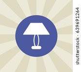 lamp icon. sign design....