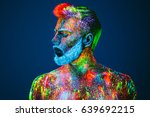 concept. portrait of a bearded... | Shutterstock . vector #639692215