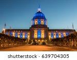 san francisco city hall in... | Shutterstock . vector #639704305