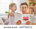 happy father's day  child... | Shutterstock . vector #639705211