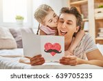 happy father's day  child... | Shutterstock . vector #639705235
