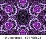 Purple Seamless Fractal Mandal...