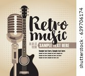 vector banner with an acoustic... | Shutterstock .eps vector #639706174