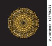mandala. vector ethnic circle.... | Shutterstock .eps vector #639706381