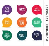 modern badges colorful... | Shutterstock .eps vector #639706537