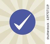 check icon. sign design....