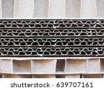 brown corrugated cardboard... | Shutterstock . vector #639707161