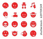 funny icons set. set of 16... | Shutterstock .eps vector #639709249