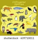 endangered species animal set... | Shutterstock .eps vector #639710011