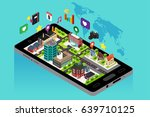 a vector illustration of mobile ... | Shutterstock .eps vector #639710125