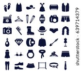 fashion icons set. set of 36... | Shutterstock .eps vector #639714379