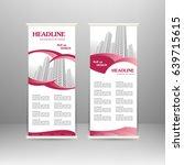 roll up banner stand design.... | Shutterstock .eps vector #639715615