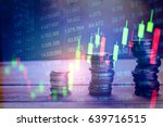financial data on a monitor as... | Shutterstock . vector #639716515