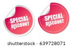 special discount stickers | Shutterstock .eps vector #639728071