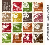 spice icon set. | Shutterstock .eps vector #639729265
