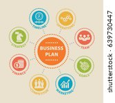 business plan. concept with... | Shutterstock .eps vector #639730447