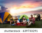 party  camping of asian man and ... | Shutterstock . vector #639733291