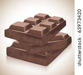 blocks of chocolate | Shutterstock .eps vector #63973420
