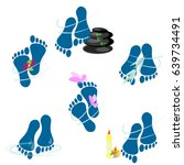 foot spa icons | Shutterstock . vector #639734491