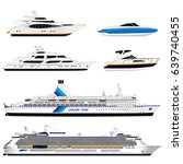 different ships. set | Shutterstock .eps vector #639740455
