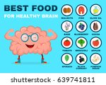 best food for strong brain.... | Shutterstock .eps vector #639741811