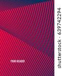 pink black color. linear... | Shutterstock .eps vector #639742294