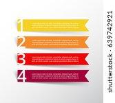 vector lines arrows infographic.... | Shutterstock .eps vector #639742921