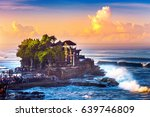 tanah lot temple in bali island ... | Shutterstock . vector #639746809