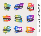 set of sale banners. shopping... | Shutterstock .eps vector #639746935