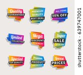 set of sale banners. shopping... | Shutterstock .eps vector #639747001
