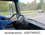 truck driver on the road ... | Shutterstock . vector #639749437