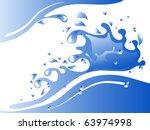 blue water splash   vector... | Shutterstock .eps vector #63974998
