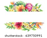 banner with branches purple... | Shutterstock . vector #639750991