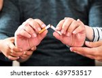 concept for quitting smoking... | Shutterstock . vector #639753517