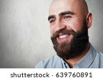 a portrait of handsome bald man ... | Shutterstock . vector #639760891