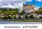 great medieval castles of loire ... | Shutterstock . vector #639760984