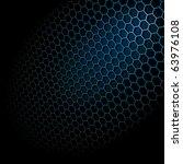 metal shine hexagon grid on... | Shutterstock .eps vector #63976108