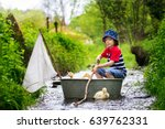 cute child  boy  playing with... | Shutterstock . vector #639762331