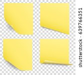 yellow sticky reminder notes... | Shutterstock .eps vector #639766351