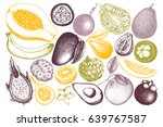vector collection of hand drawn ... | Shutterstock .eps vector #639767587