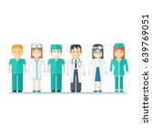 people medical staff. flat... | Shutterstock .eps vector #639769051