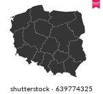 high detailed   black map of... | Shutterstock .eps vector #639774325