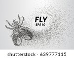 fly from particles. the fly... | Shutterstock .eps vector #639777115